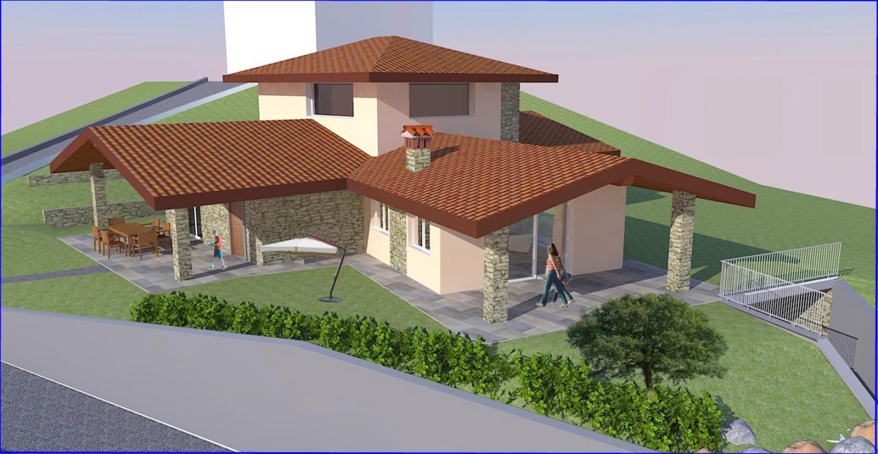 Rendering villa in stile classico studio capponi for Piani di progettazione architettonica